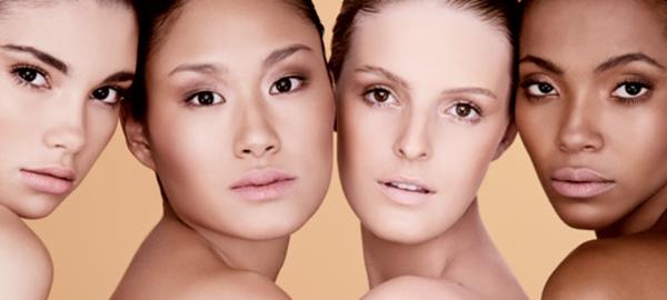 imagem de 4 mulheres enfileiradas mostrando o rosto